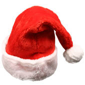 Red Christmas Plush Santa Hat (Adult)