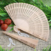 Wooden Fan In Box