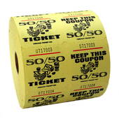 Yellow 50/50 Raffle Tickets