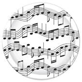 Music Notes Cake Plates - 7""