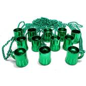 Green Beer Mug Bead Necklaces