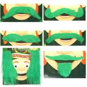Green Leprechaun Mustache Or Sideburns