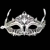 White Metal Venetian Mask