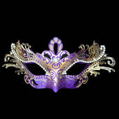 Purple Decorative Metal Venetian Mask