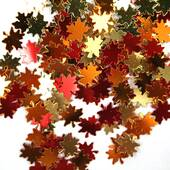 Metallic Fall Leaves Confetti
