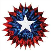 Red White And Blue Patriotic Fan Burst