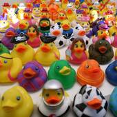 100pcs Bulk Rubber Duck Assortment