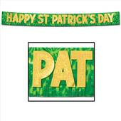 Happy St Patrick's Day Metallic Banner