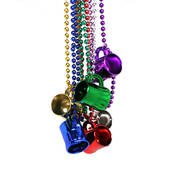 Metallic Beer Mug Bead Neckalces