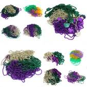 Bulk Mardi Gras Beads - Assorted Necklaces, 500pcs