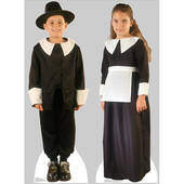 Pilgrim Boy And Pilgrim Girl Set Lifesized Standup
