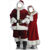 Santa And Mrs. Claus Standin Lifesized Standup