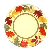 Autumn Leaves Plates - 7""