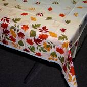 Autumn Leaves Plastic Table Cover - Rectangle