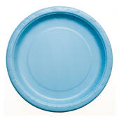 Baby Blue Paper Plates - 8 5/8""