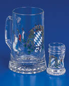 Bavarian Flags Father And Son Steins