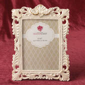 Antique Ivory Brushed Gold Leaf 5 x 7 Frame