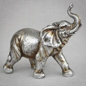 Antique Silver Elephant Large Size