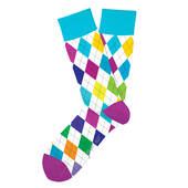 Bad Golfer Multicolored Argyle Socks
