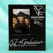 Black and Silver Graduation 2 x 3 Mini Frame