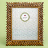 Brushed Gold Leaf Design 8 x 10 Frame