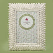 Brushed Leaf Ivory 4 x 6 Frame