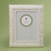Brushed Leaf Ivory 5 x 7 Frame