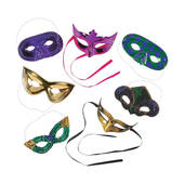 Bulk Mardi Gras Mask Assortment