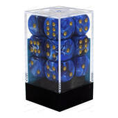 Chessex Blue With Gold Vortex Dice 16mm D6 Block