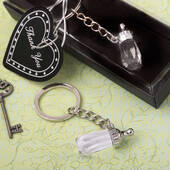 Choice Crystal Baby Bottle Design Key Chain