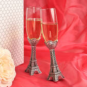 Eiffel Tower Design Champagne Flutes