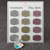 Fabulous Glitter Chevron Pill Box