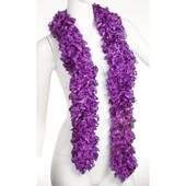Faux Purple Featherless Boa (6', 185 grams)
