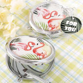 Flamingo Metal Compact Mirror
