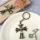 Flared Cross Design Key Chain
