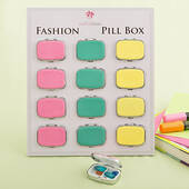 Fun Vibrant Colored Pill Box
