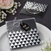 Geometric Design Set of 2 Glass Coasters