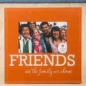 Glass Friends Frame 6 x 4 Orange and White