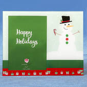 Glass Holiday Snowman 5 x 7 Frame