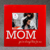 Glass Mom Frame 6 x 4 Red and White