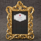 Gold Metallic Baroque Frame 5 x 7