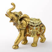Gold with Jewels Elephant Medium Size