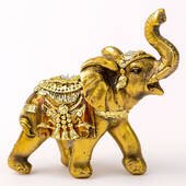 Gold with Jewels Elephant Small Size