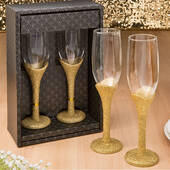 Golden Elegance Collection Set of 2 Toasting Glasses