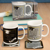 Grad Mug and Coaster Set 2 Assorted Styles