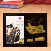 Graduation Themed Glass Frame in Black