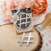 Hashtag Love' Collection Chrome Finish Silver Metal Bottle Opener