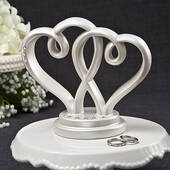 Interlocking Hearts Centerpiece / Cake Topper