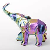 Iridescent Elephant Medium Size