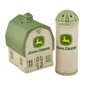 John Deere Barn And Silo Salt And Pepper Shakers